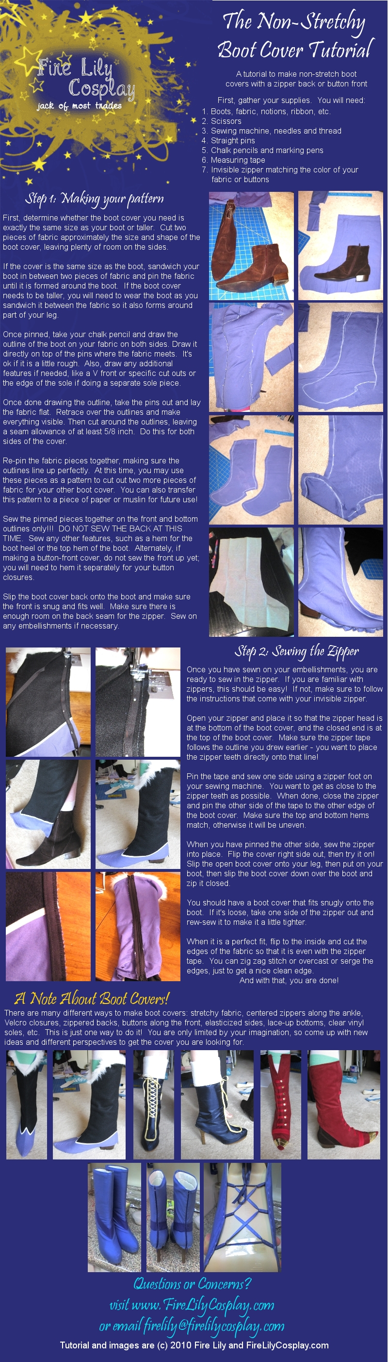 Tips For Making Costume Shoes D Infinity